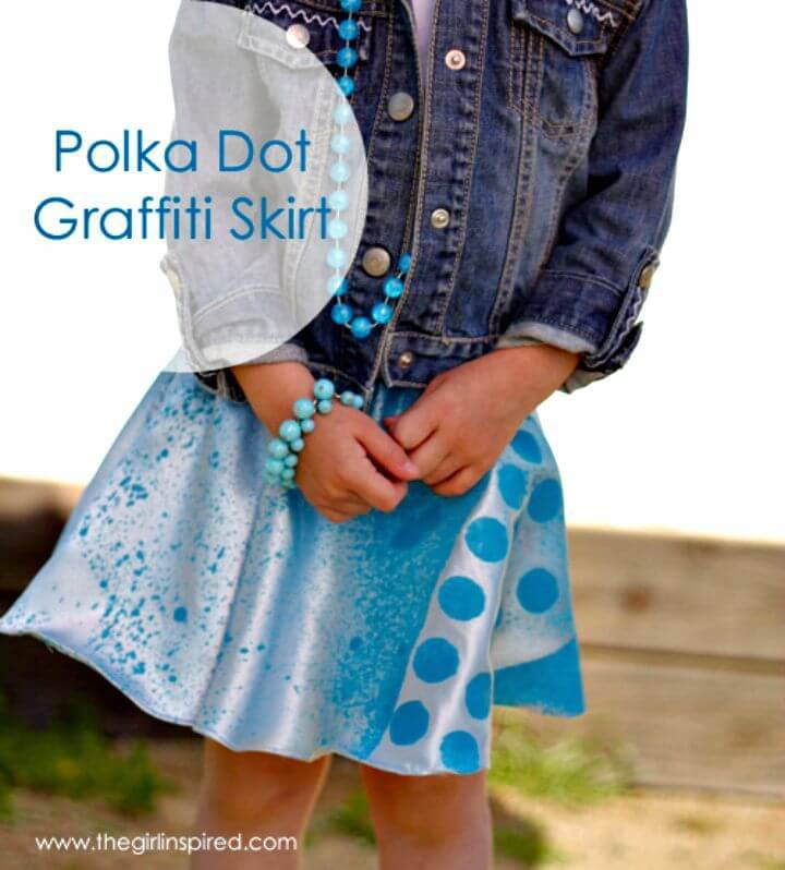 DIY Polka Dot Graffiti Skirt