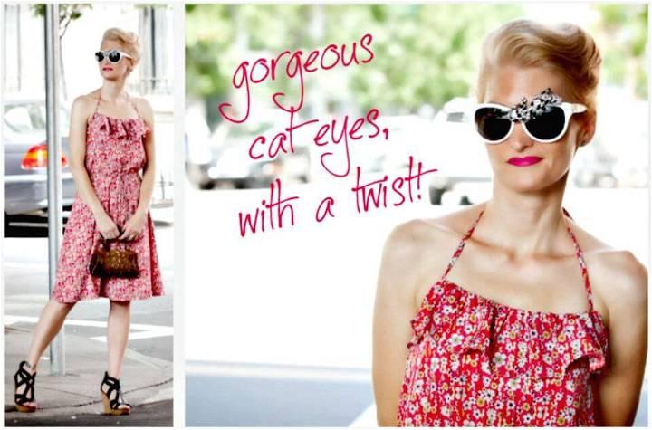 Gorgeous DIY Rhinestone Sunglasses for Summer