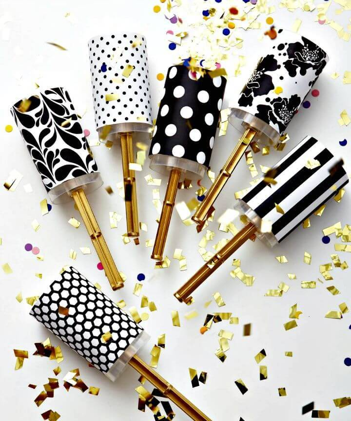 Gorgeous DIY Wedding Confetti Poppers for Summer Party Decorations