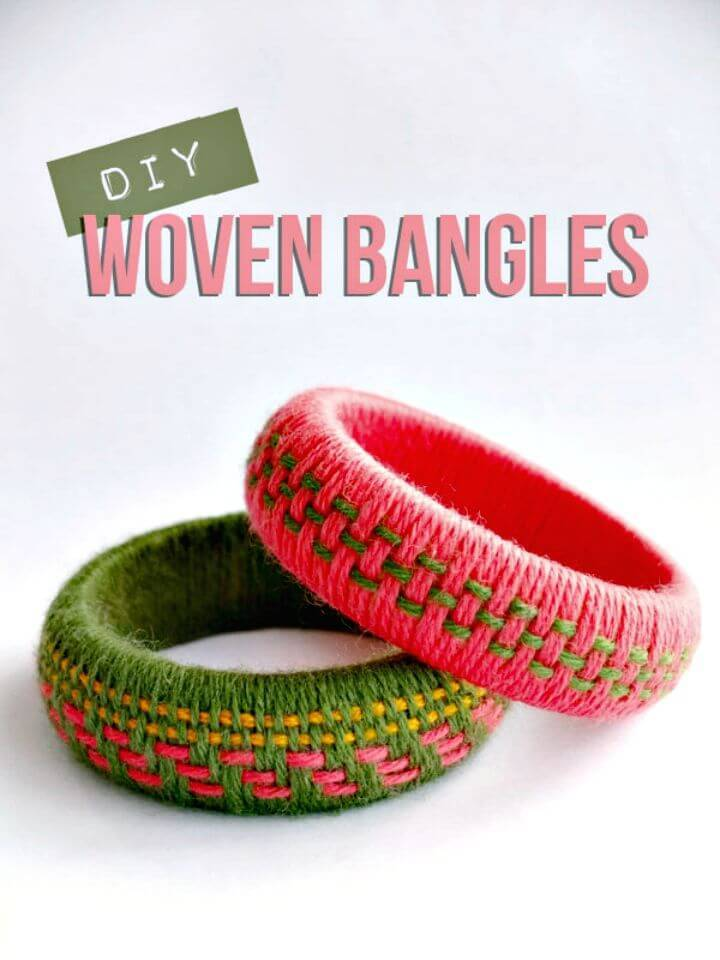 Gorgeous DIY Woven Yarn Bangles Bracelet