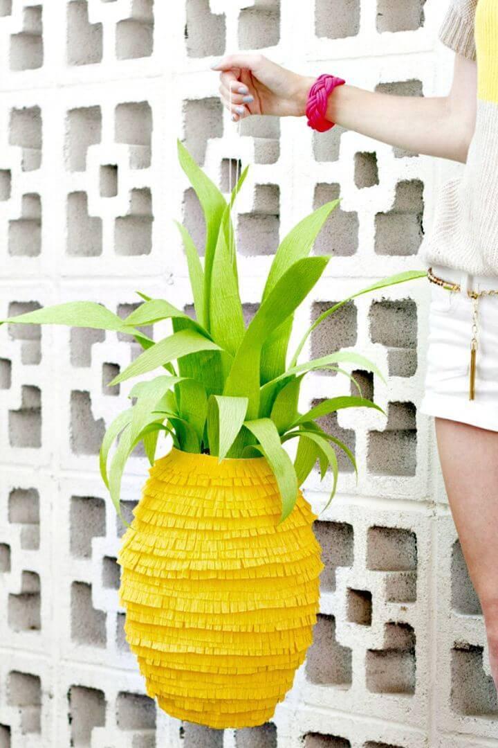 Gorgeous DIY Pineapple Piñata