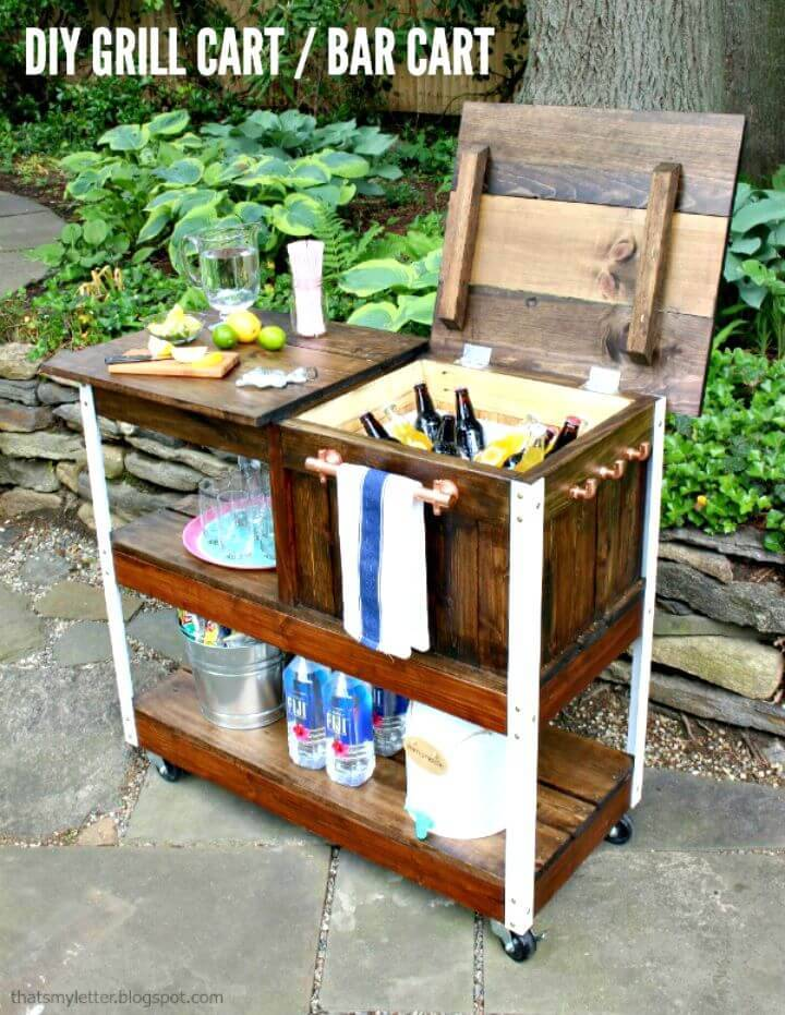 How To Build Grill Cart or Bar Cart - DIY