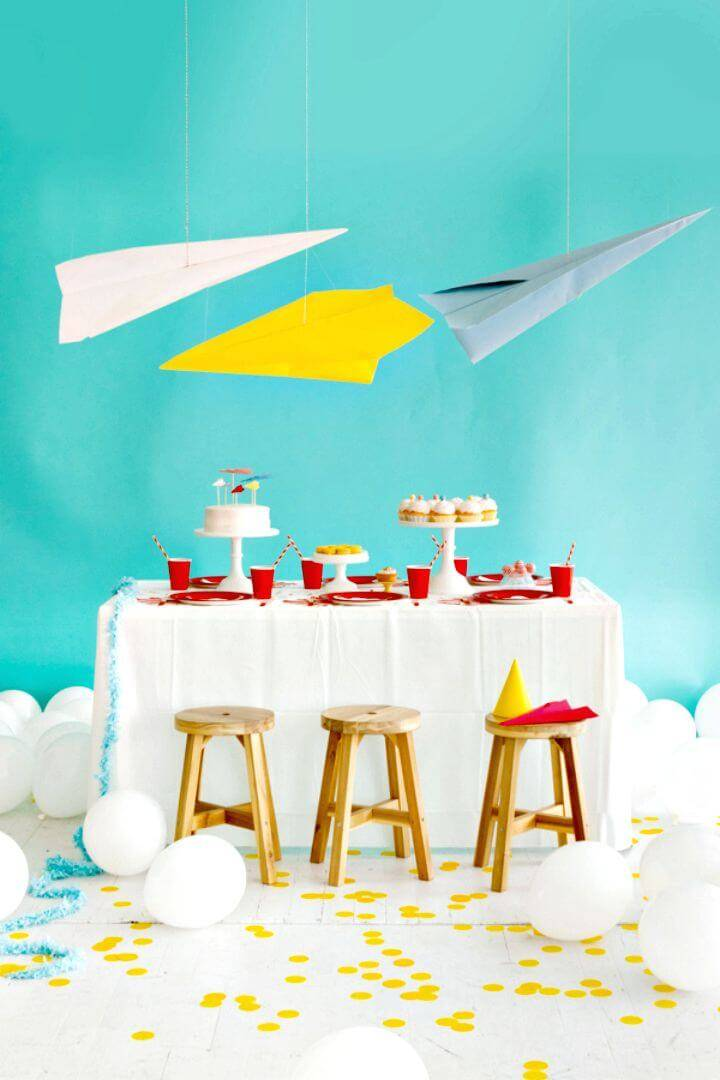 Cute DIY Paper Airplane Party
