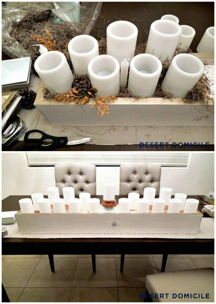 DIY Wood Box Centerpiece Tutorial