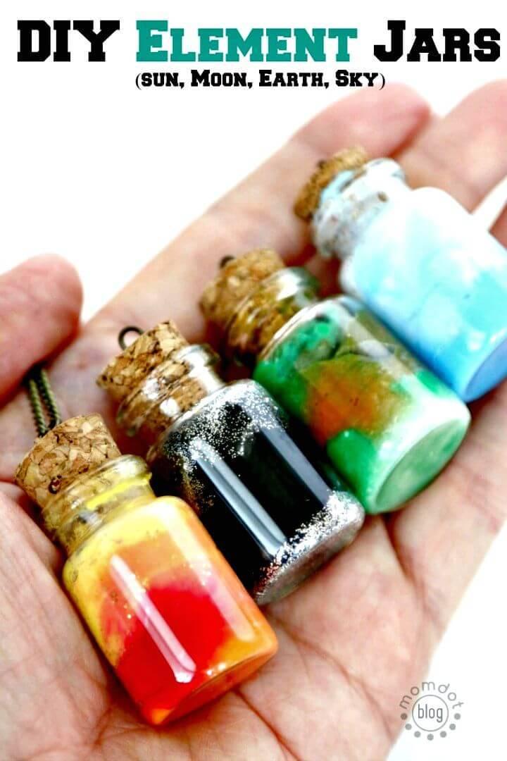 Cute DIY Element Jar Necklace