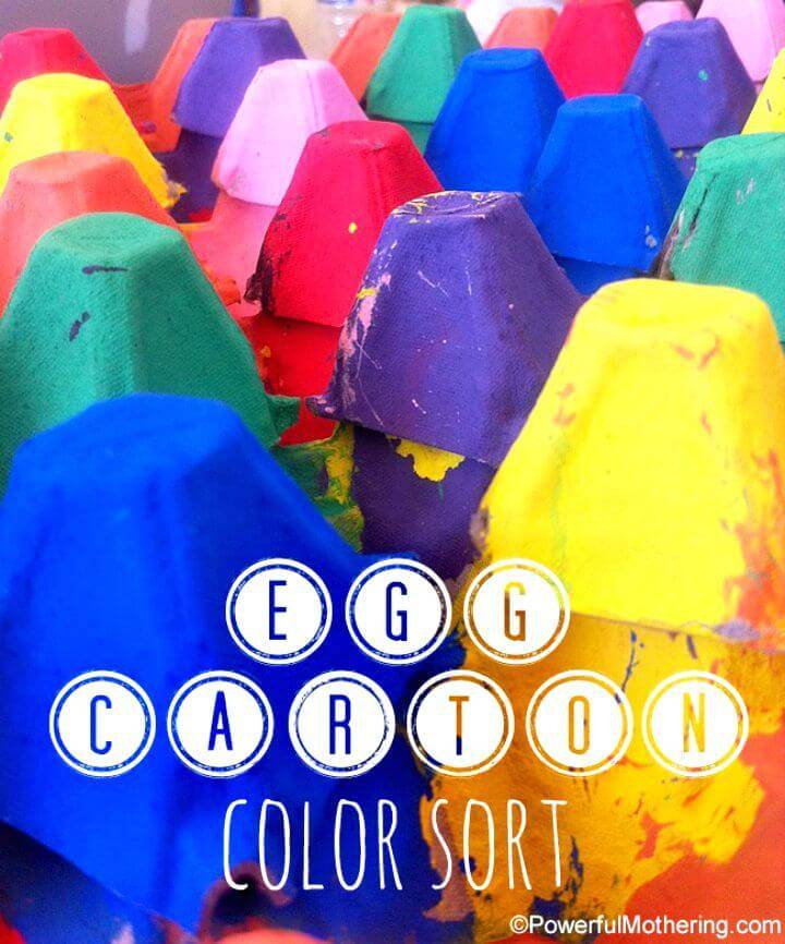 How To Create Egg Carton Crafts - A Color Sort Activity