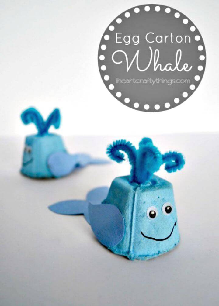 How to Create Egg Carton Whale Kids Craft