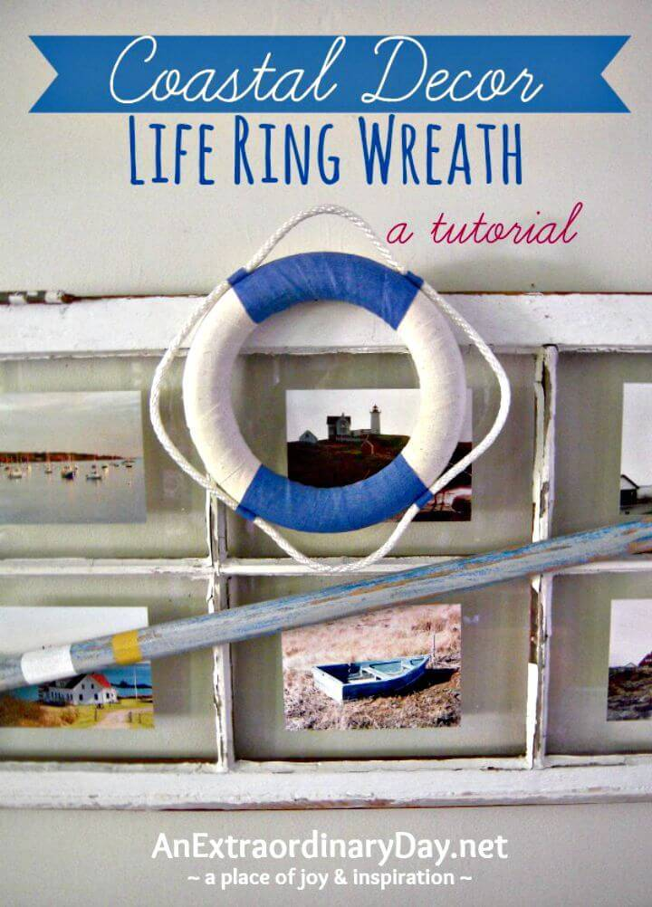 How To Create Nautical Life Ring Wreath for Summer