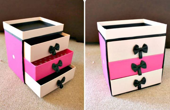 How To DIY makeup Storage