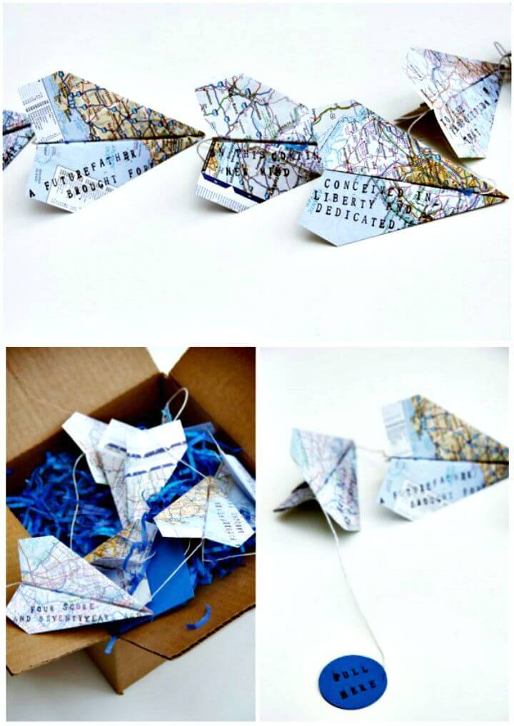 Adorable DIY Paper Airplane Garland