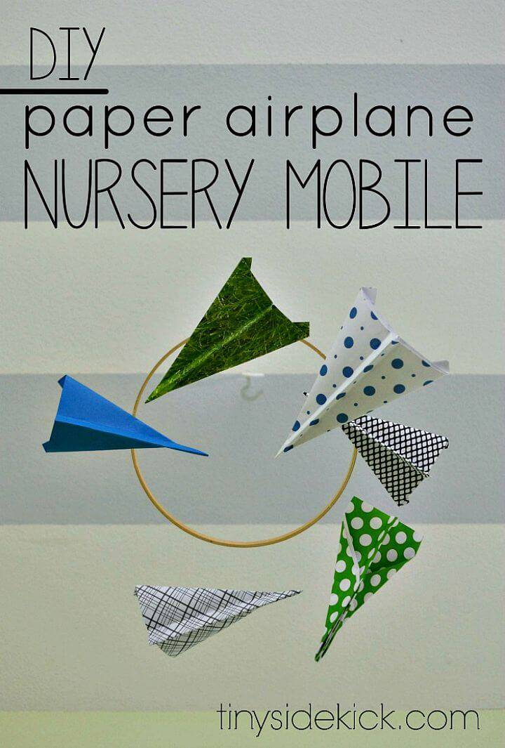 Make a Paper Airplane Mobile