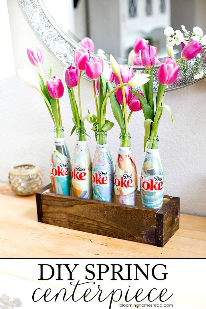 Adorable DIY Spring Wood Box Centerpiece