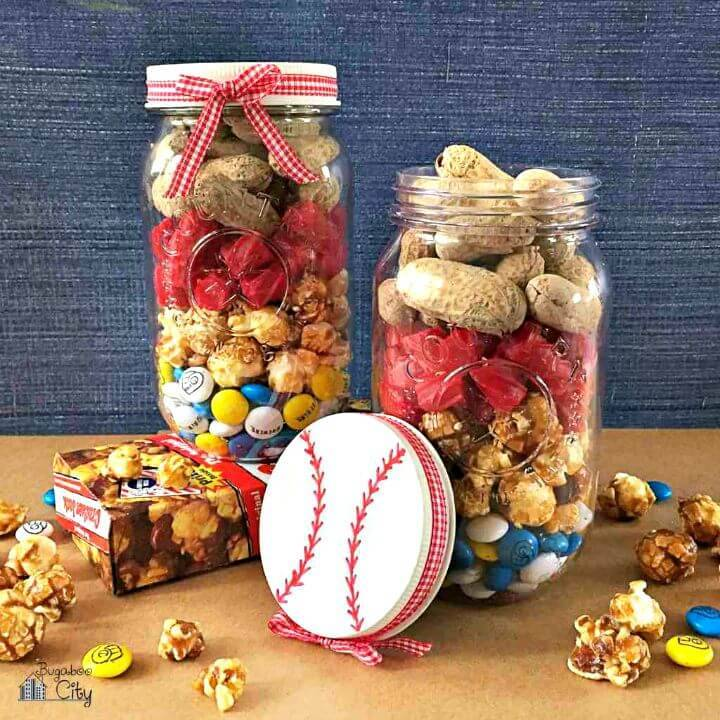 DIY Baseball Mason Jar - Mason Jar Crafts