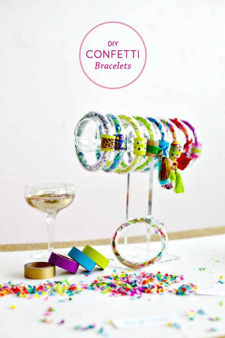 How To Make Confetti Bracelets - DIY