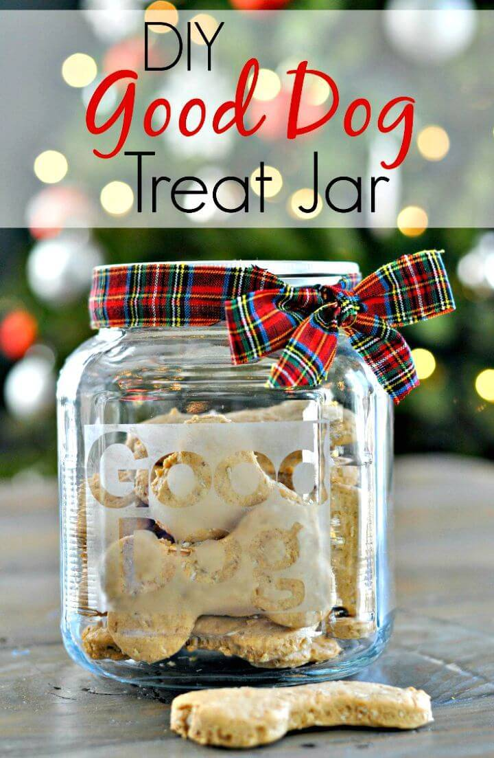 How To Make Dog Treat Jar Gift