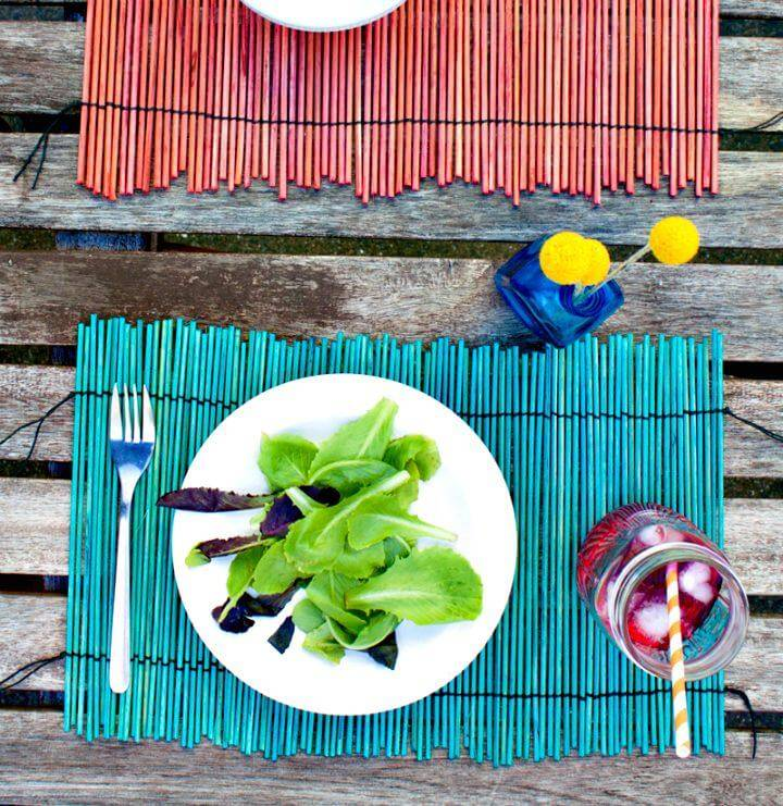 How To Make Dyed Bamboo Place-mats - DIY Summer Party Decorations Ideas