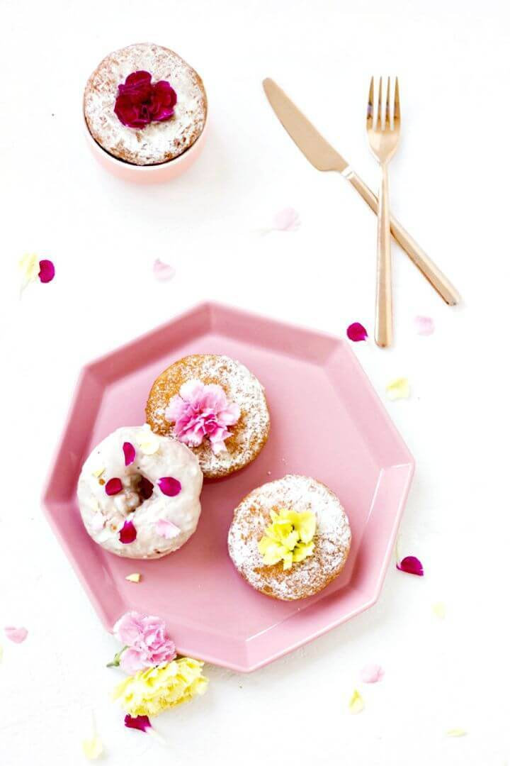 Make Edible Flower Donuts - DIY Mother's Day Gift: