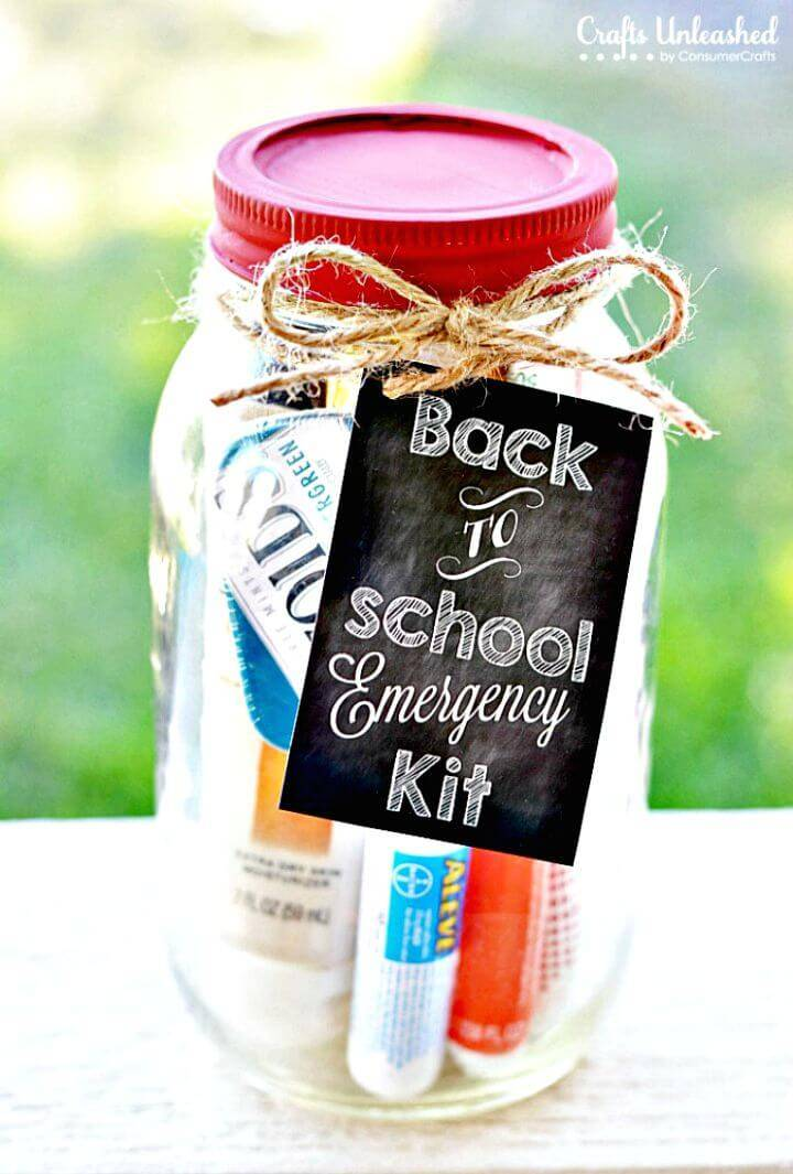DIY Emergency Mason Jar Teacher Kit