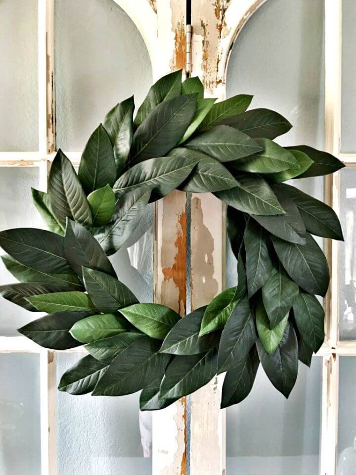 How To Make Faux Magnolia Wreath for Summer