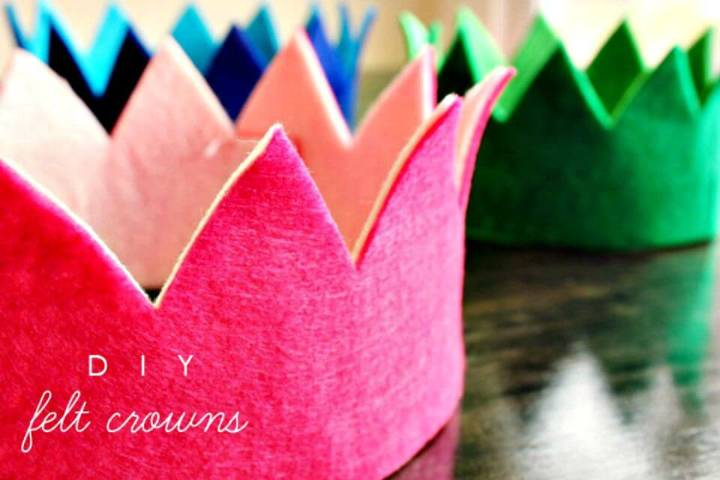 How To Make Felt Crown - DIY