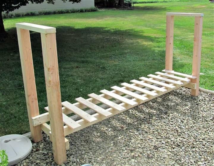 DIY Firewood Rack for Wood Storage