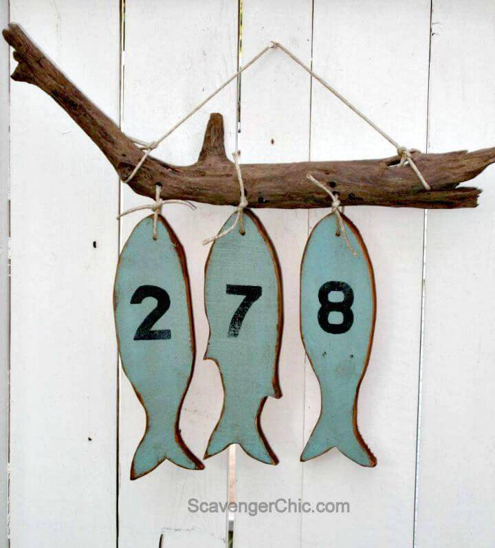 How To Make Fish House Numbers - DIY