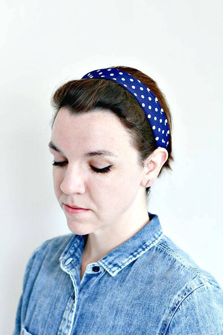DIY Five-minute Polka Dot Headband