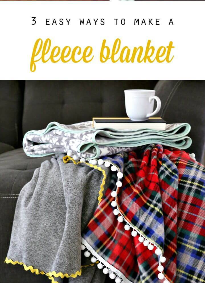How To Make Fleece Blankets - It's So Easy