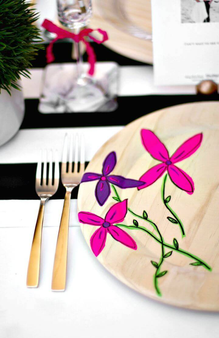 How To Make Floral Plate Chargers - DIY Summer Party Decorations Ideas
