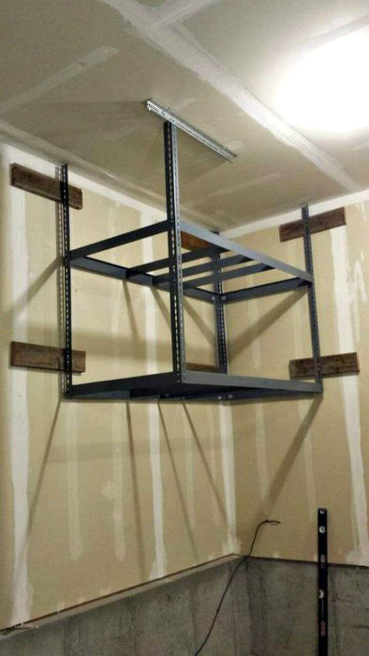 How To Make Garage Storage Shelf - DIY