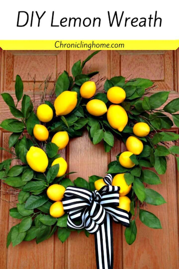 How To Make Lemon Wreath - DIY Summer Wreath