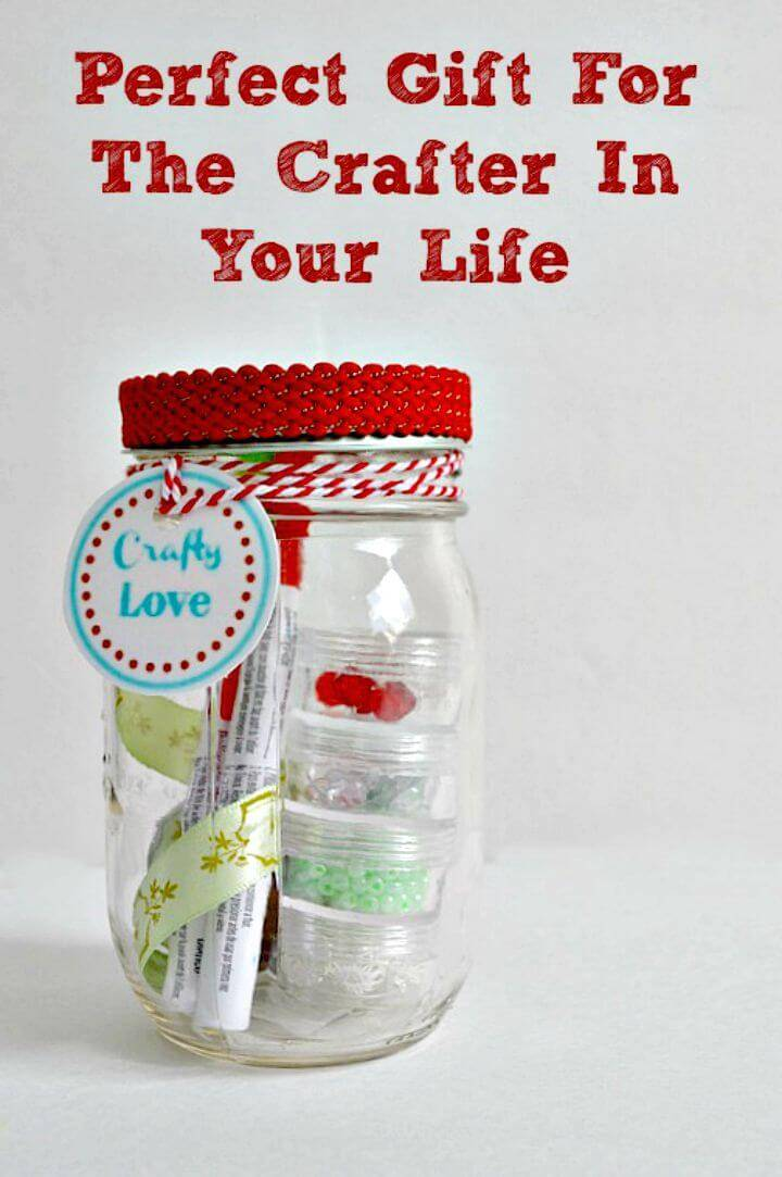 How To Make Loves To Craft Mason Jar Gift - DIY