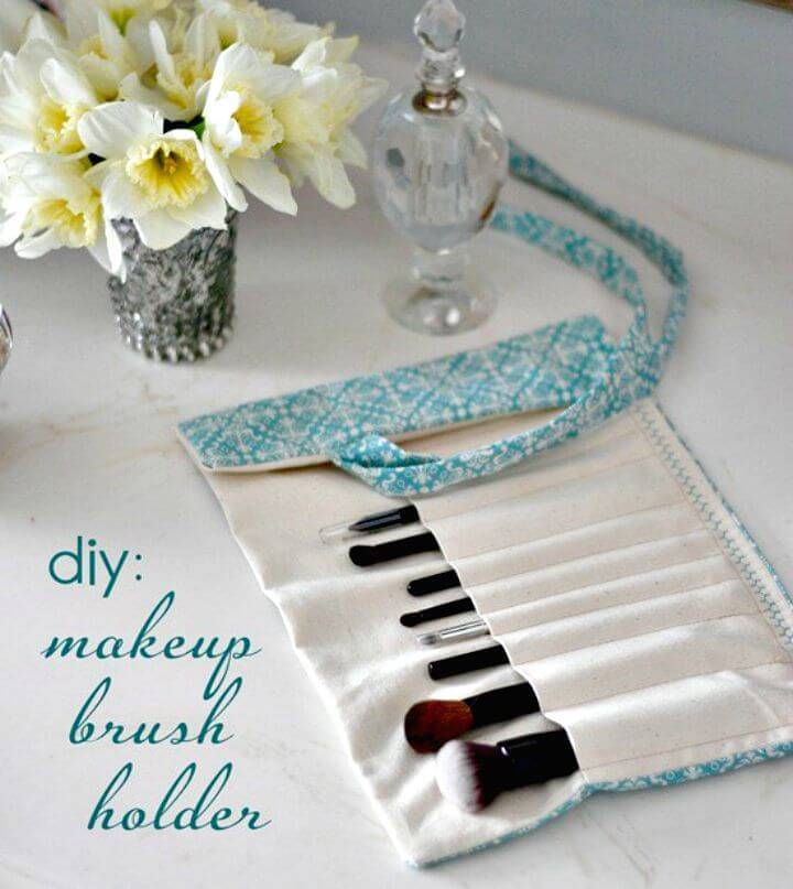 How To Make Makeup Brush Holder - DIY Makeup Organizer