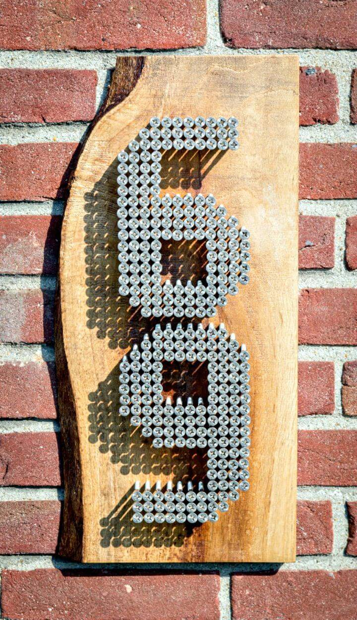 How To Make Stainless Steel Home Numbers - Modern DIY Idea