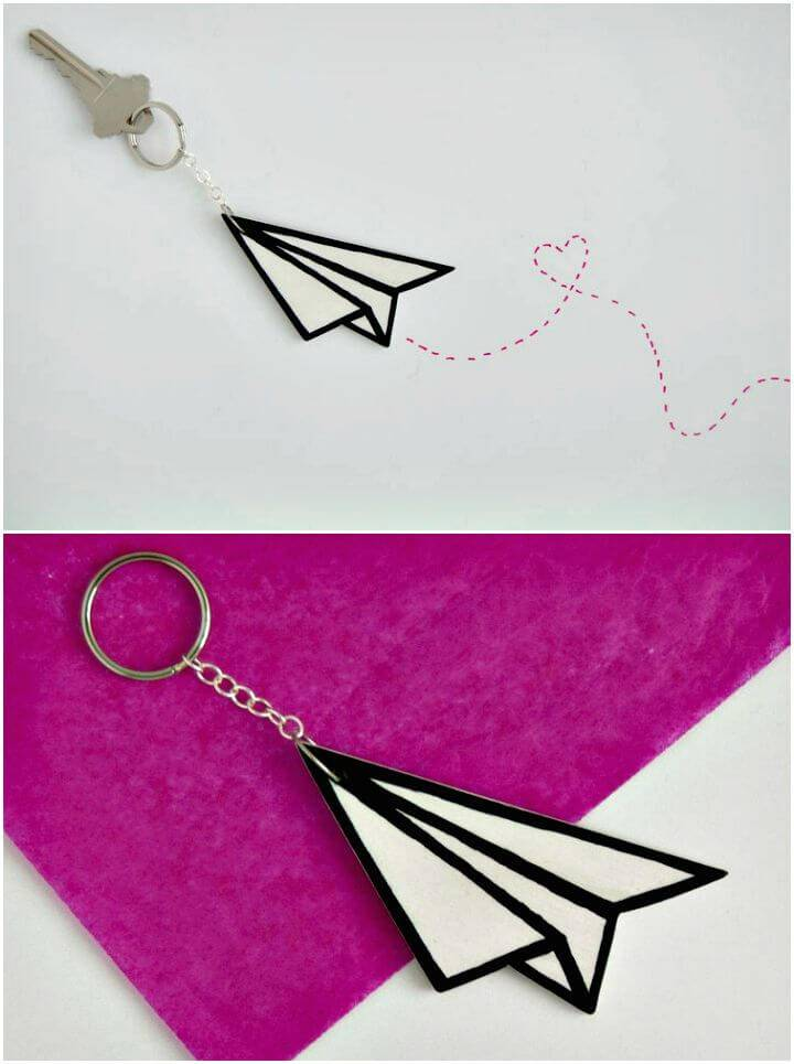 DIY Paper Airplane Key Chain