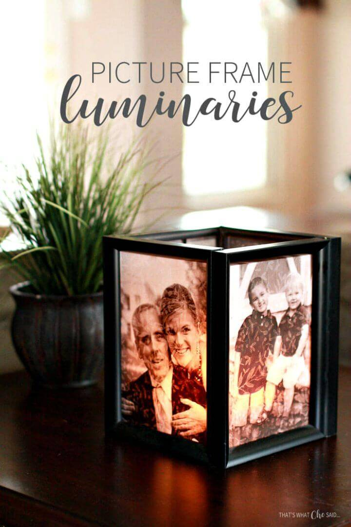 How To Make Picture Frame Luminaries - DIY