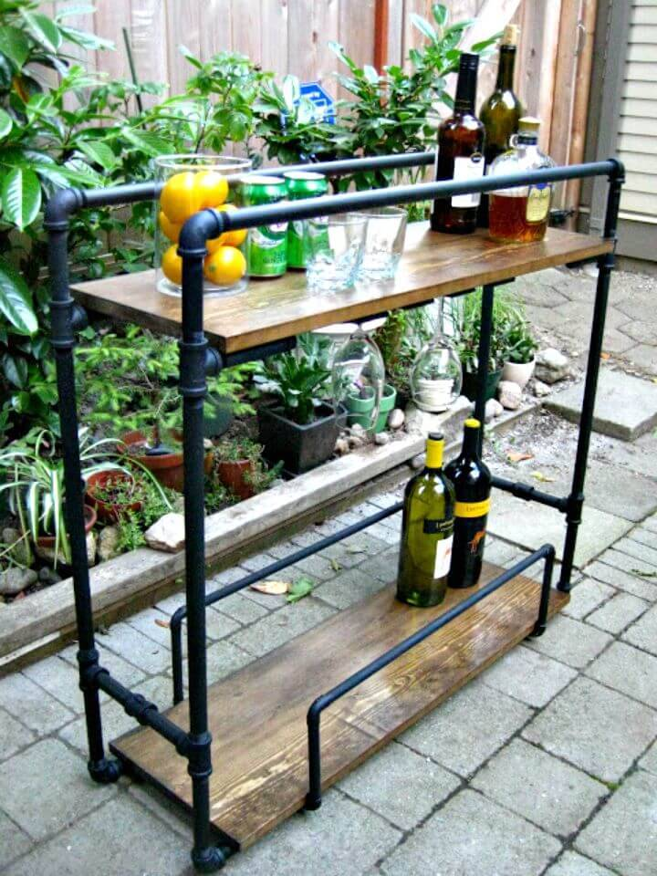 How To Make Pipe Bar Cart - DIY