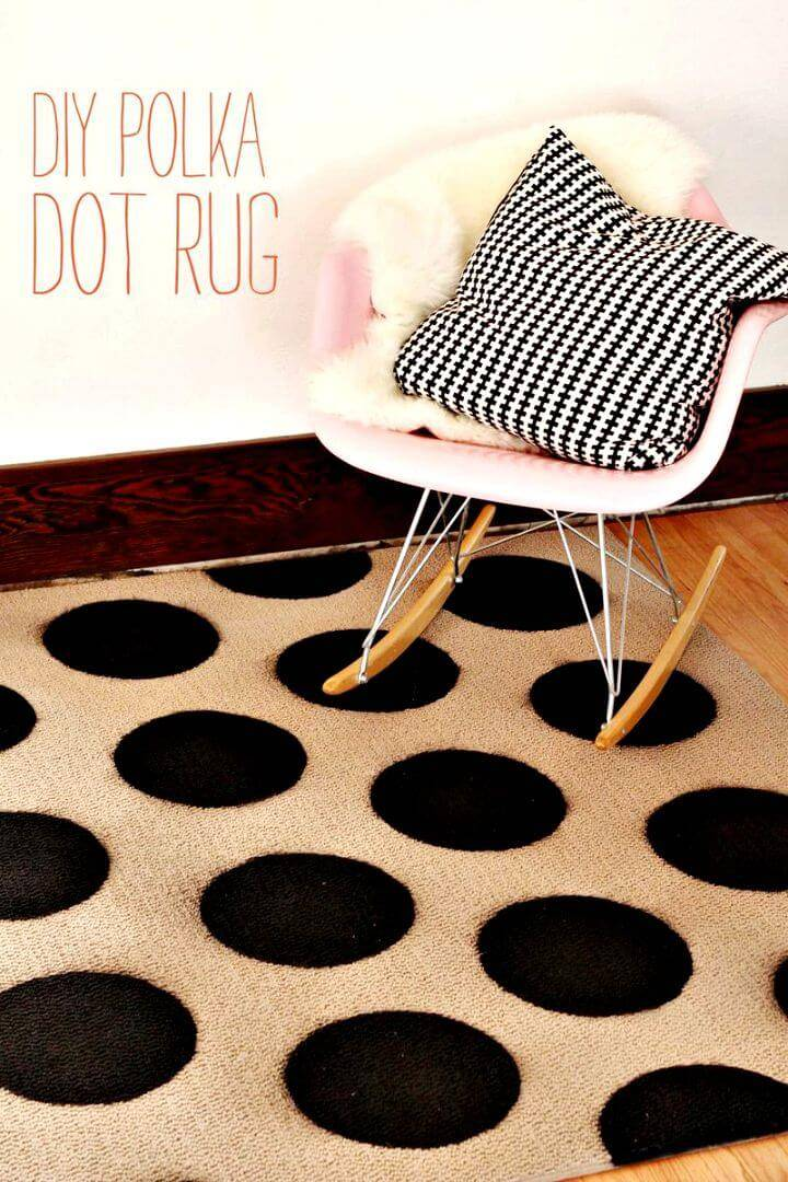 How To Make Polka Dot Rug - DIY