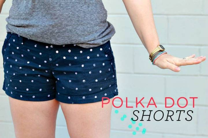 How To Make Polka Dot Shorts - DIY