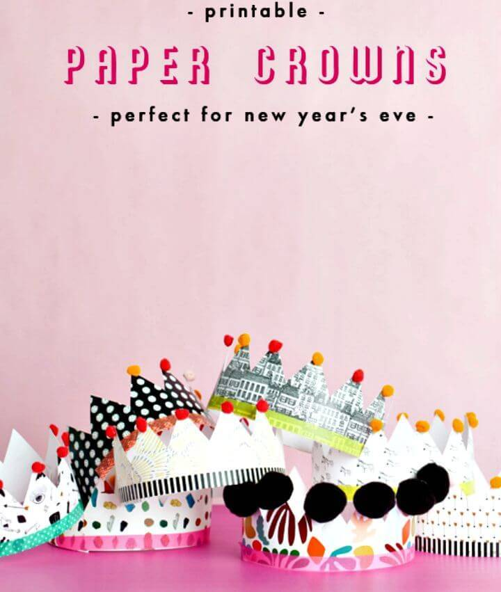 How To Make Printable Paper Crowns - DIY