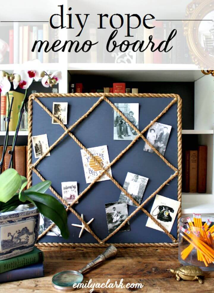 How To Make Rope Memo Board