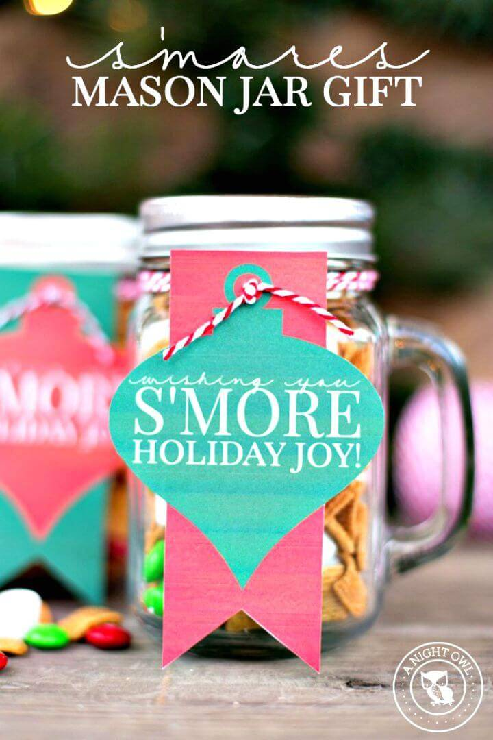 How To Make S'mores Mason Jar Gifts for Parties