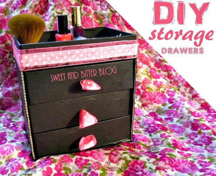 Make Storage Drawers Using Beauty Box - DIY Makeup Organizer
