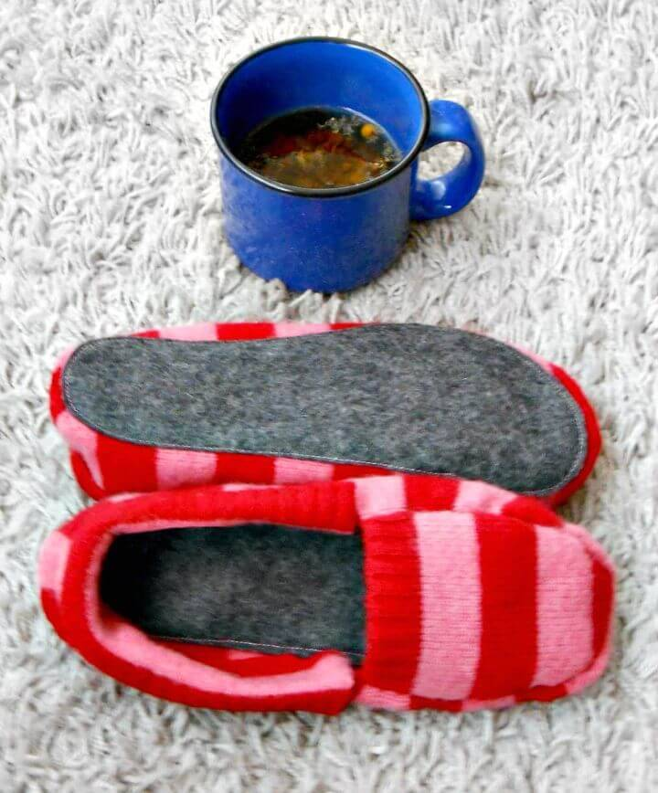 How To Make Upcycled Sweater Slippers