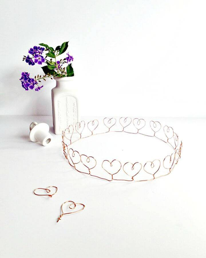 How To Make Wire Heart Crown - DIY