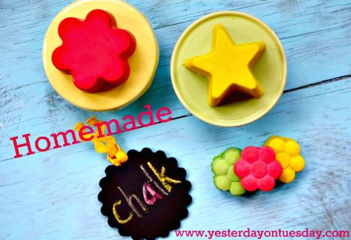 DIY Homemade Chalk - Summer Kids Crafts