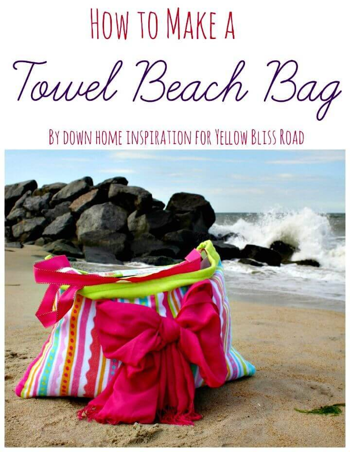 Colorful DIY Towel Beach Bag