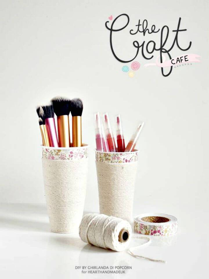 How To Turn Coffee Cup Into Makeup Storage - DIY