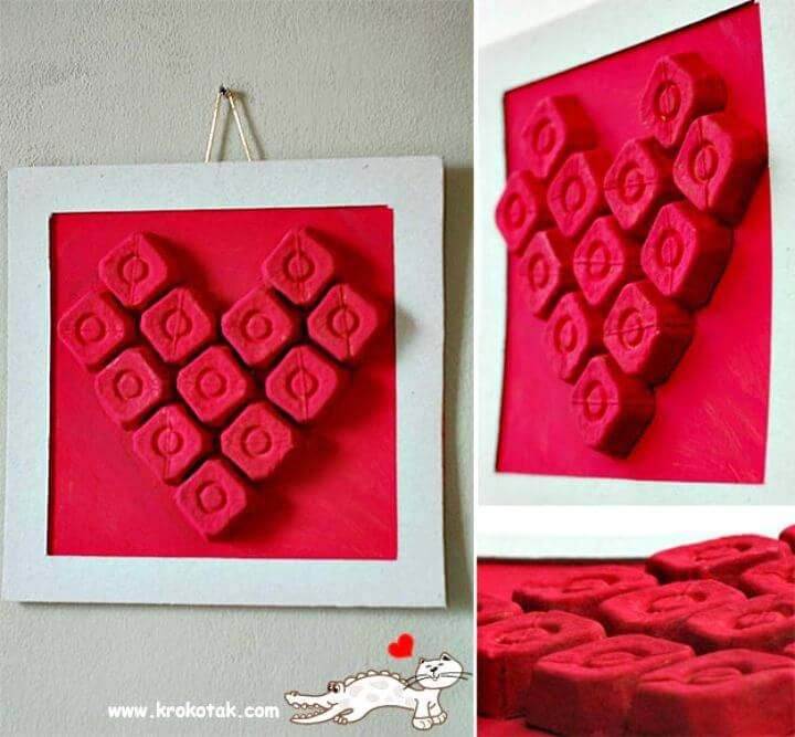 How to Make Heart Wall Art - DIY