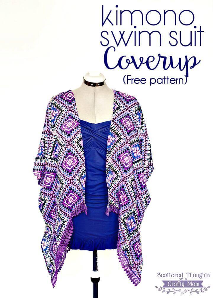 How to Make Kimono Swim Suit Cover Up - Free DIY Pattern